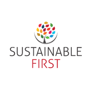 logo sustainable first squared